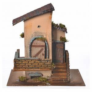 Casolare balcone e scalinata 28x15x27 cm s1
