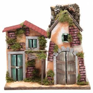 Ambientazioni, botteghe, case, pozzi: Casolare del presepe 32X33X18 cm