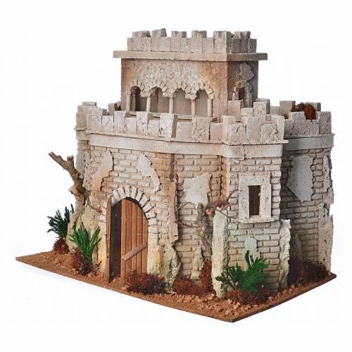 Castello arabo per presepe in sughero s2