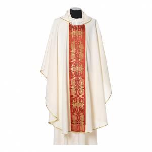 Casula con stolone fronte tessuto Vatican 100% poliestere s5