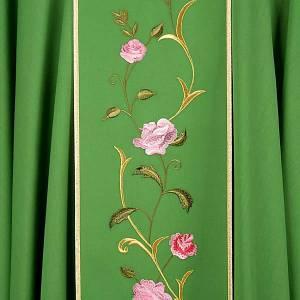 Casula liturgica IHS rose colorate 100% lana, con stola s6