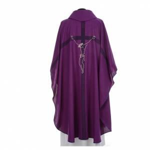 Casula liturgica quaresimale con crocifisso s3
