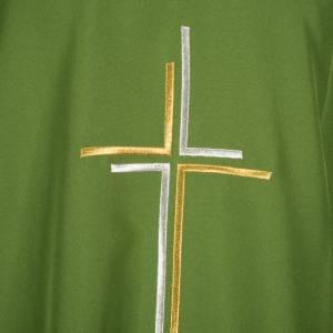 Casula sacerdotale croce doppia stilizzata poliestere s5