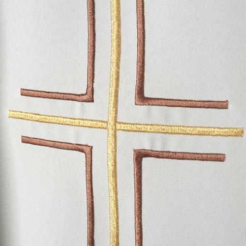 Casula sacerdotale croce doppia uva poliestere s3