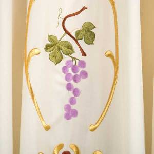 Casula sacerdotale spighe uva foglie pura lana s4