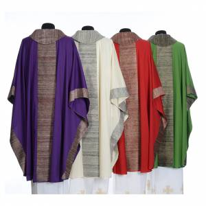 Casulla en 100% lana pura y decoración en 100% seda pura s2