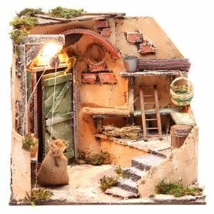 Cellar setting 28x26x24cm neapolitan nativity s1