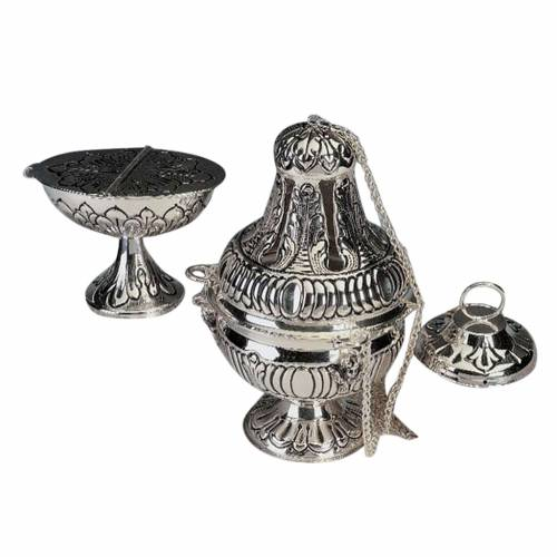 Censer and boat in silver plated s1