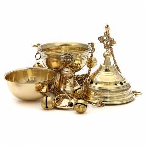 Censer in brass hand-made Bethlehem monks 22cm h s2