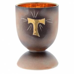 Ceramics Chalices Ciborium and Patens: Ceramic chalice with round base