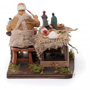 Ceramista con pastori 12 cm presepe napoletano s4