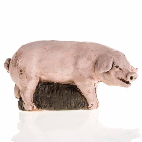 Cerdo  para el pesebre Deruta de 18cm s1