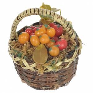 Cestino con frutta mista presepe per figure 20-24 cm s2
