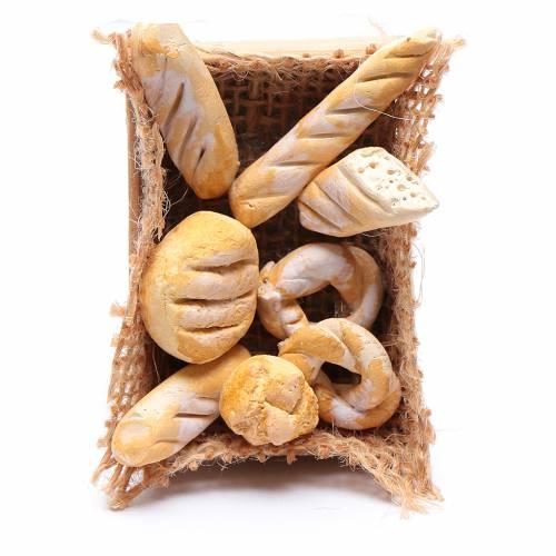 Cesto di pane accessorio presepe napoletano fai da te s1