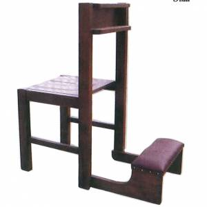 Chair with kneeling stool in wood, foldable 87x40x35 cm s1