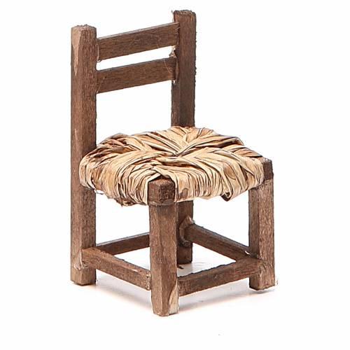 Chaise bois h 6 cm crèche napolitaine s1
