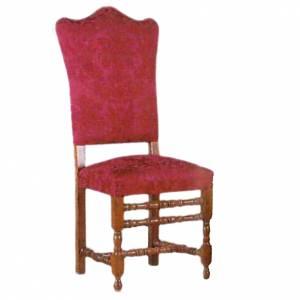 Chaise en bois façonnée au tour 124x49 cm s1