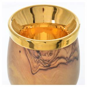 Chalice in Assisi wood with Deruta ceramic cup H21.5cm s3
