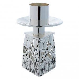 Chandelier d'autel laiton argenté fondu s5