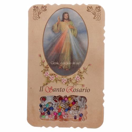 Chapelet avec livret Divine Miséricorde litanies mystères s1