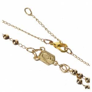 Chapelet dévotion collier Notre-Dame de Fátima métal doré s4