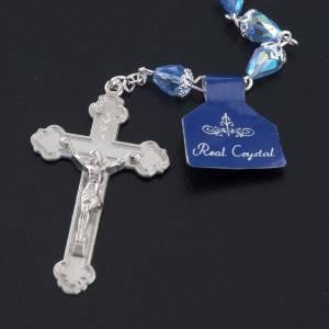 Chapelet en perles cristal goute bleue s5