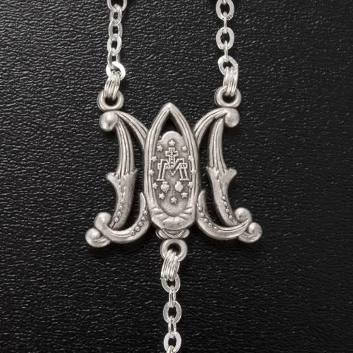 Chapelet Ghirelli bois d'olivier symbole Marial 5x7mm s5