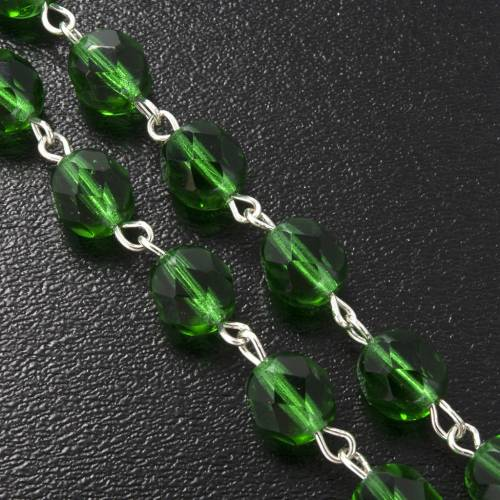 Chapelet Ghirelli bois St Patrick verre vert 7mm s6