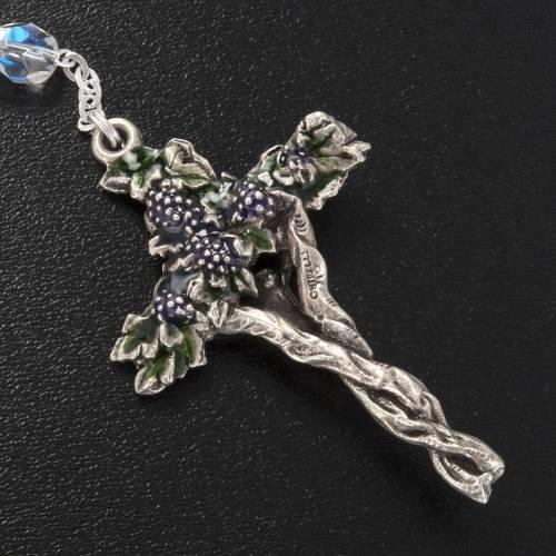 Chapelet Ghirelli demi-cristal Jésus Miséricordieux 7mm s3