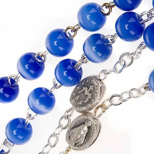 Chapelet Ghirelli en verre bleu clair s3