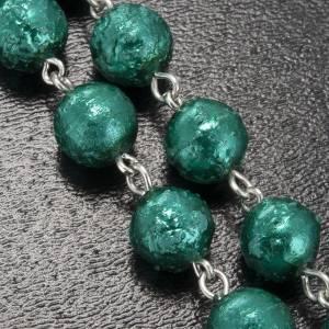 Chapelet Ghirelli Notre Dame de Lourdes verre opaque vert 8mm s5