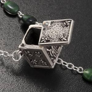 Chapelet Ghirelli verre vert pièce centrale cubique s3