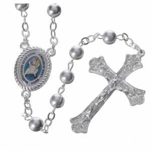 Chapelets en métal: STOCK Chapelet logo Jubilé Miséricorde métal grains 6 mm