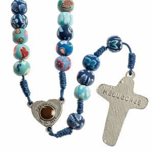 Chapelets et boîte chapelets: Chapelet Medjugorje fimo bleu