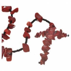 Chapelets et boîte chapelets: Chapelet Medjugorje pierre dure rouge