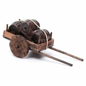 Charette avec tonneau en miniature crèche Napolitaine 12 s2