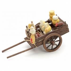 Charette de charcuterie en miniature crèche Napolitaine 8 s2