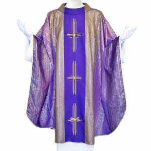 Chasubles: Chasuble 3 crosses in Tasmanian wool with double twisted yarn