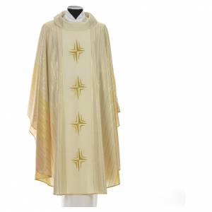 Chasuble 4 crosses in Tasmanian wool with double twisted yarn s5