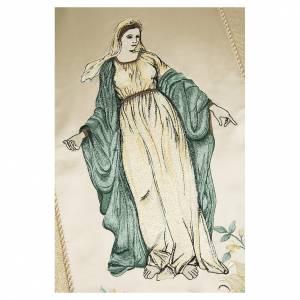 Chasubles: Chasuble avec Vierge et fleurs pure laine vierge et lurex
