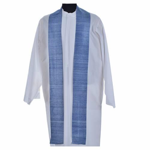 Chasuble bleu ciel 100% pure soie shantung s9