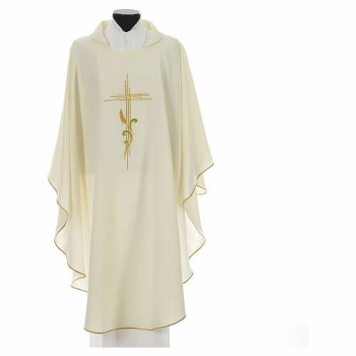 Chasuble broderie épi sur croix en polyester s5
