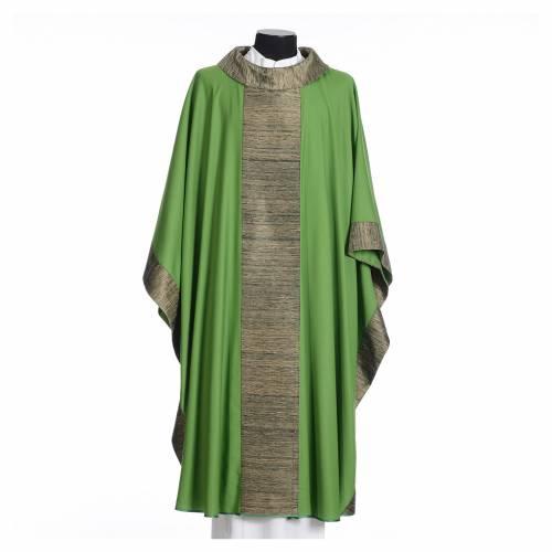 Chasuble en laine avec bandes appliquées en soie s3