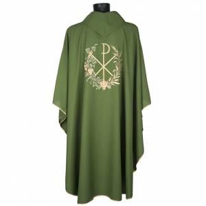 Chasuble et étole liturgiques, décor  Chi-Rho s6