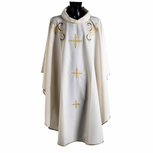 Chasuble golden cross embroidery s1