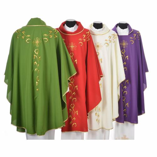 Chasuble golden embroidery and cross s2