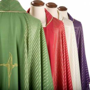 Chasuble in lurex with stylized cross s8