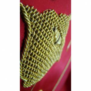 Chasuble in pure silk with hand-embroidered vine symbol s4