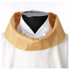 STOCK Chasuble Jubilee with LATIN application and golden finish 100% polyester s5