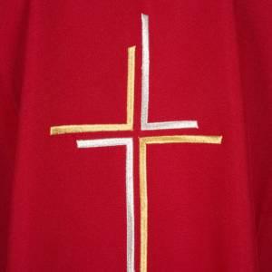 Chasuble liturgique croix double polyester s7